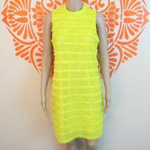 J. Crew Bright Yellow Lace & Tassel Dress 4